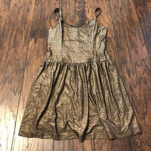 Shiny gold dress